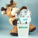 Safari Themed Deluxe Personalized Baby Gift Set
