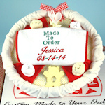 Made to Order Personalized Pizza Baby Gift