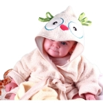Owl Hooded Cover-Up Bathrobe for Toddlers