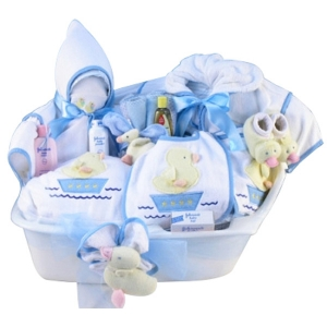 Baby Boy Bath Time Gift Tub imagerjs