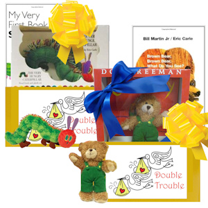 Double Delights Twins Gift Basket imagerjs