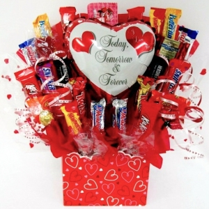 Forever Love Romantic Candy Bouquet imagerjs