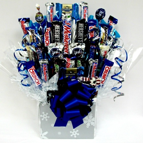 Let it snow candy bouquet all about gifts baskets