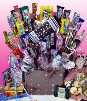 It's a Girl! Baby Candy Bouquet imagerjs