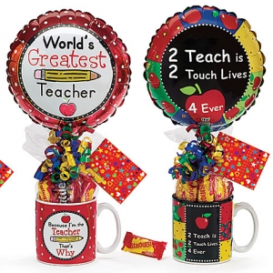 Teacher Candy Gift Mug with Balloon imagerjs