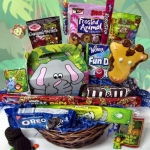 Kids Day At The Zoo Candy Busy Gift Basket