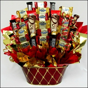 Sweet Sentiment Chocolate Holiday Basket imagerjs