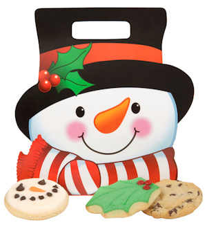 Smiling Snowman Cookie Tote imagerjs