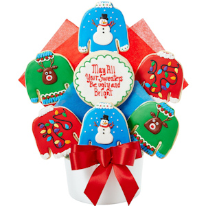 Ugly Christmas Sweater Cookie Bouquet imagerjs