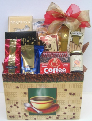 Coffee Lover's Java Time Gift Basket imagerjs