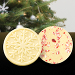 White Chocolate Snowflake with Candy Cane (Case of 15)