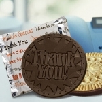 Dark Chocolate Thank You Cookie Favors (Case of 50)