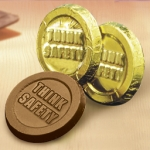 Think Safety Chocolate Coins (Case of 250)