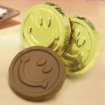 Smiley Face Milk Chocolate Coins (Case of 250)