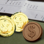 Dollar Sign Chocolate Coins (Case of 250)