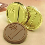 Number 1 Chocolate Coins (Case of 250)