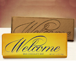 Welcome Gourmet Chocolate Bar (Case of 50)