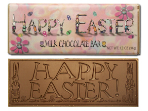 Happy Easter Chocolate Bars imagerjs
