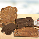 Custom Molded Chocolate Shape with Message (3 x 3)