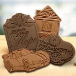 Custom Molded Chocolate Shape with Message (2 x 3)