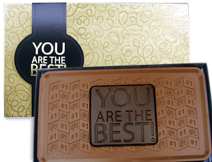 You Are The Best - 1 lb Chocolate Bars (Case of 5) image