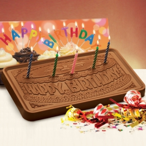 Birthday Chocolate Bar with Candles (Case of 5) imagerjs