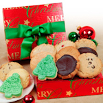 Merry Christmas Foil Cookie Box