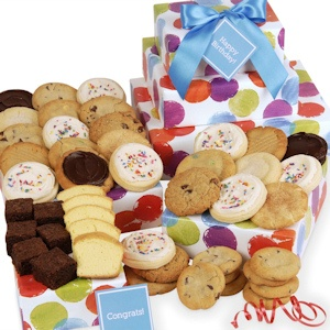 Colorful Circles Cookie Gift Tower imagerjs