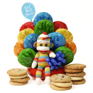 Get Well Sock Monkey Cookie Bouquet imagerjs