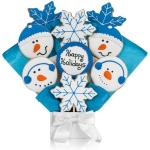 Winter Holiday Cookie Bouquet Arrangement