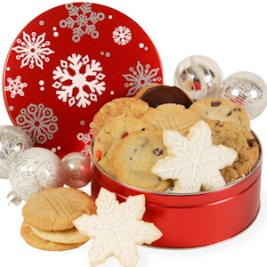 Snowflake Christmas Cookie Tin imagerjs