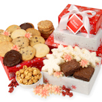 Glistening Snowflake Holiday Cookie Tower Gift