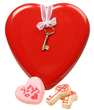 Key To My Heart Cookie Tin imagerjs