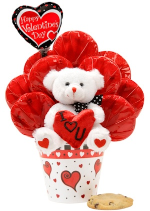 Heart Pot Bear Bouquet imagerjs