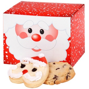 Smiling Santa Cookie Variety Box imagerjs