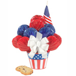American Flag Cookie Bouquet