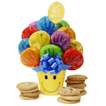 Smiley Face Get Well Cookie Bouquet