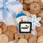 Corporate Holiday Gourmet Logo Cookie Box