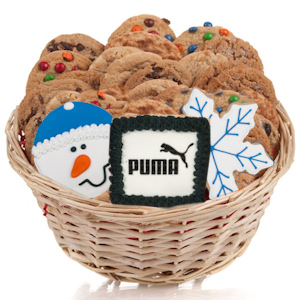 Corporate Holiday Gourmet Logo Cookie Basket imagerjs