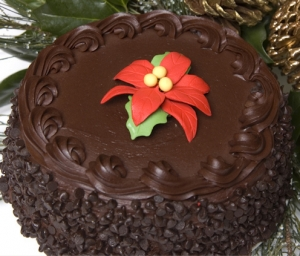 Christmas Holiday Chocolate Outrage Cake imagerjs