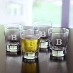 Personalized Double Old Fashioned Glasses Set of 4