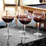 Engraved Red Wine Glasses (Set of 4)