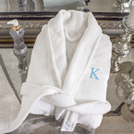 Personalized White Plush Robe