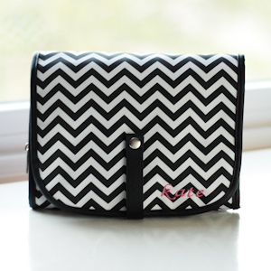 Chevron Cosmetic Bag - Grooming Set Included imagerjs