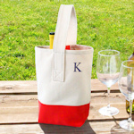 Color Dipped Wine Totes