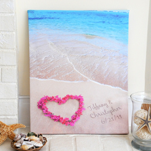 Ocean Waves Personalized Wrapped Canvas Print imagerjs