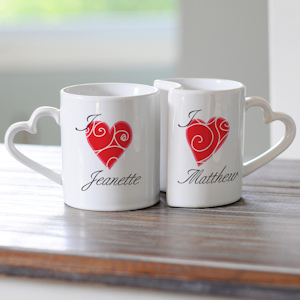 Personalized Heart Mug Set imagerjs