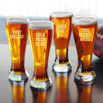 Cold Beer Here Pilsners - Set of 4