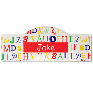 Primary Colors Personalized Alphabet Room Sign imagerjs