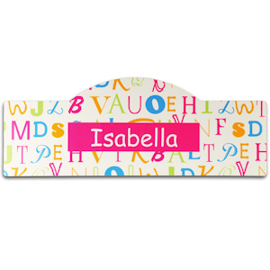 Pink Personalized Alphabet Room Sign imagerjs